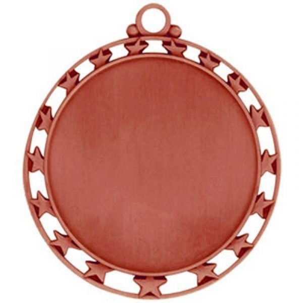 Red Round Medal with Stars