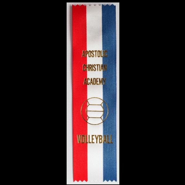 10 Custom Red White Blue Award Ribbon